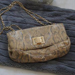 Stuart Weitzman Snake Print Shoulder Bag